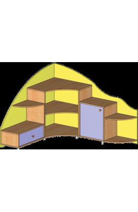 Тумба для уголка природы (угловая)