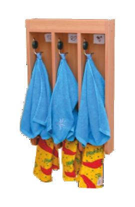 Вешалка для полотенец (с 3-мя крючками)