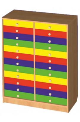 Шкаф для индивидуальных вещей (24 ящика)