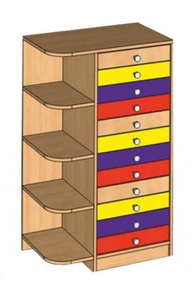 Шкаф комбинированный для индивидуальных вещей (12 ящиков)